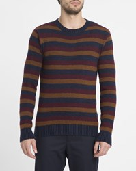 Oliver Spencer Multi Colour Striped Round Neck Sweater Multicolour