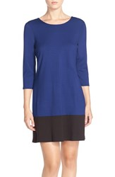 Women's Leota Colorblock Ponte Shift Dress Royal Black