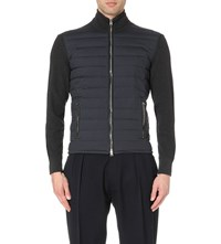 Tom Ford Ski Quilted Shell And Wool Jacket Charcoal