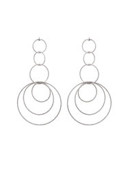 Carolina Bucci Sparkly Link White Gold Gitane Earrings