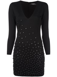 Dsquared2 Studded Accent Jersey Dress Black