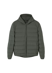 Mango Men's Lightweight Feather Down Jacket Green