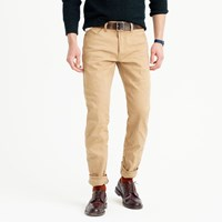J.Crew Wallace And Barnes Straight Selvedge Jean In Khaki