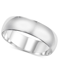 Macy's 14K White Gold Ring 6Mm Wedding Band