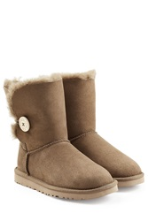 Ugg Australia Bailey Button Suede Boots Green
