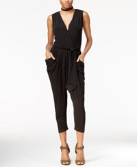Rachel Roy Draped Cropped Jumpsuit Only At Macy's Black