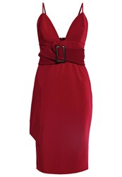 Lost Ink The Label Oella Cocktail Dress Party Dress Burgundy Dark Red
