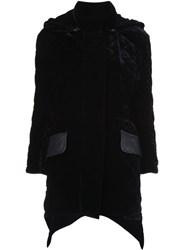 Fendi Quilted Velvet Coat Black