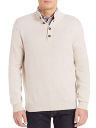 Luciano Barbera Cashmere Mockneck Sweater Ivory
