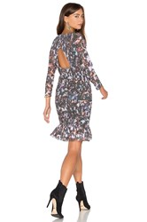 Twelfth St. By Cynthia Vincent Smocked Flounce Dress Dark Green