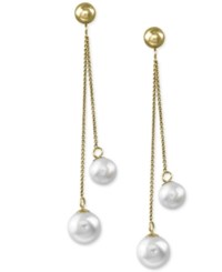 Effy Collection Effy Cultured Freshwater Pearl 6Mm And 7Mm Drop Earrings In 14K Gold