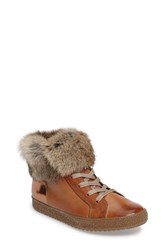 Paul Green Women's Malika High Top Sneaker With Genuine Rabbit Fur