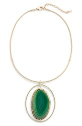 Nordstrom Women's Agate Collar Necklace Green