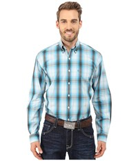 Stetson Hunter's Plaid Blue Men's Long Sleeve Button Up