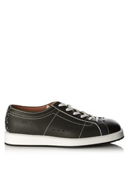 Bottega Veneta Block Colour Leather Trainers Black Multi