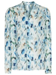 Reiss Lily Blouse Ocean Blue