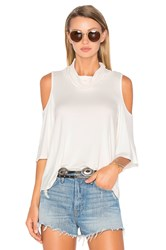 Ella Moss Bella Cold Shoulder Top Ivory