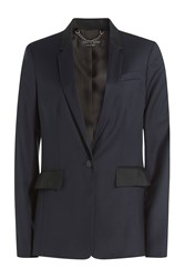 Rag And Bone Rag And Bone Wool Blazer Blue