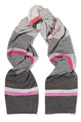 Autumn Cashmere Striped Scarf Gray