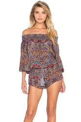 Raga Desert Flower Romper Red