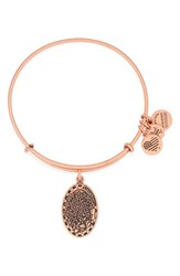 Women's Alex And Ani 'I Love You Daughter' Expandable Wire Bangle Rose Gold