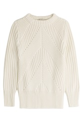 Burberry London Wool Cashmere Knit White