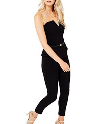 Miss Selfridge Bengaline Peplum Jumpsuit Black