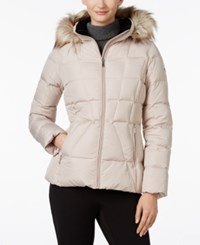 Calvin Klein Faux Fur Lined Quilted Puffer Coat Barley