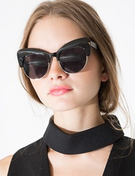 Pixie Market Coco Black Cat Eye Sunglasses