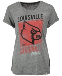 '47 Brand Women's Louisville Cardinals Hero T Shirt Gray