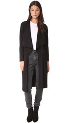 Lanston Drape Trench Cardigan Black