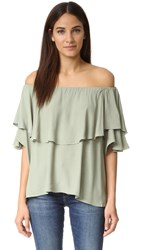 Mlm Label Maison Off Shoulder Top Olive Green