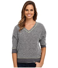 Kut From The Kloth Nancy Top Pavement Women's Long Sleeve Pullover Gray