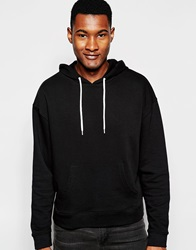 Asos Oversized Cropped Hoodie In Black