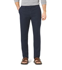 Slim Fit Linen And Cotton Chinos