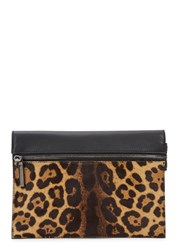 Victoria Beckham Small Leopard Print Leather Clutch