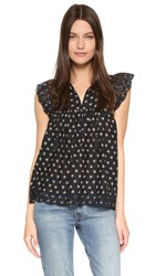 Ulla Johnson Mae Blouse Coal