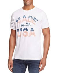 Junk Food Made In The Usa Graphic Tee Electric White
