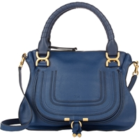 Chloe Medium Marcie Satchel With Strap 706 Royal Navy