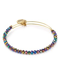 Alex And Ani Northern Lights Brilliance Bead Expandable Wire Bangle Multi