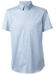 Emporio Armani Short Sleeved Shirt Blue