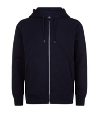 Paul Smith Ps By Zip Front Cotton Hoodie Male Navy
