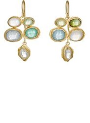 Judy Geib Women's Mixed Gemstone Quadruple Drop Earrings Colorless
