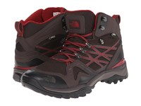 The North Face Hedgehog Fastpack Mid Gtx Mulch Brown Biking Red Men's Hiking Boots
