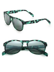 Italia Independent I Gum Camouflage 55Mm Round Sunglasses Teal Multi