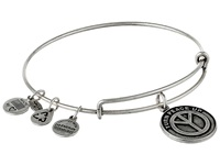 Alex And Ani Turn Peace Up Charm Bangle Rafaelian Silver Finish Bracelet