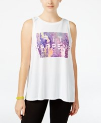 Jessica Simpson The Warm Up Juniors' Graphic Tank Top Only At Macy's Glowing White