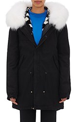 Mr And Mrs Italy Women's Fur Trimmed And Lined Parka Red Purple Black