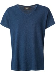 Rrl V Neck T Shirt Blue