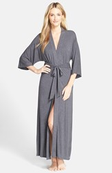 Women's Dkny 'Urban Essentials' Long Robe Grey